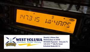 WestVARS Weekly 2 Meter Net @ WV4ARS Repeater 147.315 (No Tone)